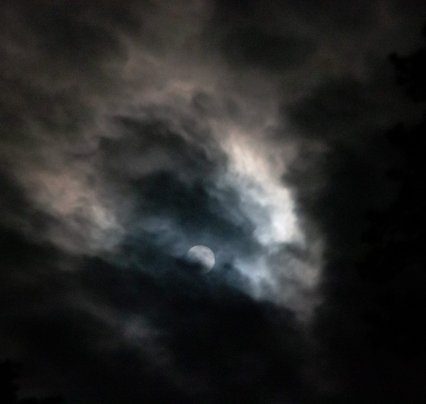 Cloudy Sky with Moon